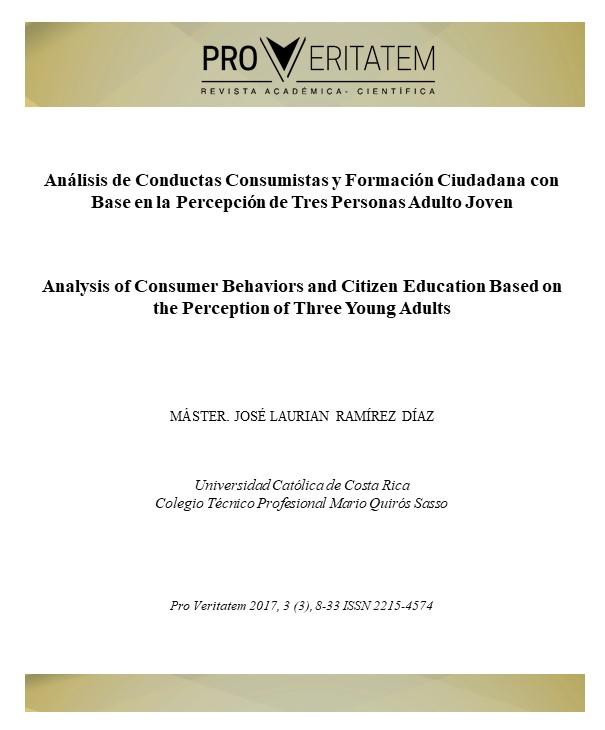 Análisis de Conductas Consumistas y Formación Ciudadana con Base en la Percepción de Tres Personas Adulto Joven